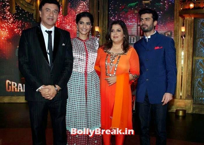 Anu Malik, Sonam Kapoor, Farah Khan, Fawad Khan, Sonam Kapoor in Amazing Dress - Pics from EKLKBK