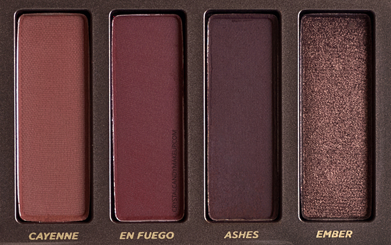 Urban Decay Naked Heat Palette Review Cayenne En Fuego Ashes Ember