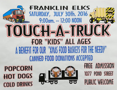 Franklin Elks Lodge: Touch - A - Truck - July 30