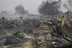 boko haram burn down military base