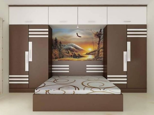 Top 50 Over bed wardrobe interior designs for Small bedroom ...