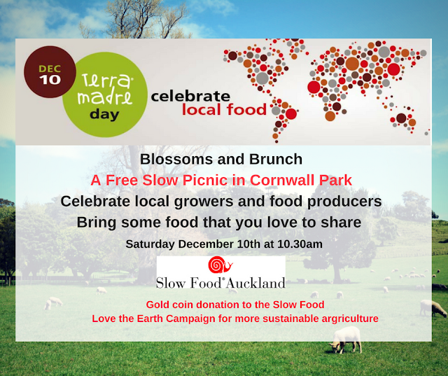 Blossoms and Brunch -Free Terra Madre Day Picnic -Dec 10th