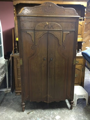 Restored cottage armoire