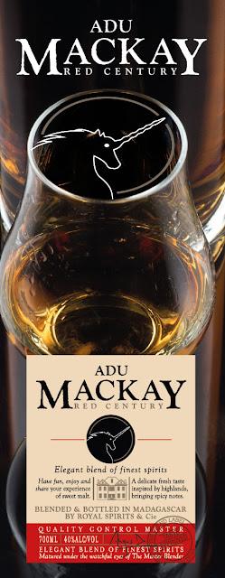 création de visuel pour décoration de stand Whisky Adu Mackay