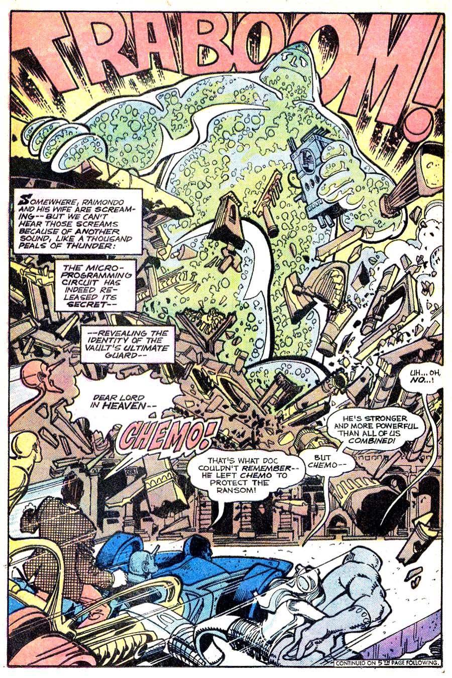 Metal Men v1 #46 dc 1970s bronze age comic book page art by Walt Simonson