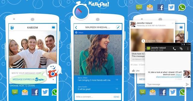 تطبيق Kaboom لحذف الرسائل المرسلة على الواتس اب وفيسبوك بعد مدة محددة