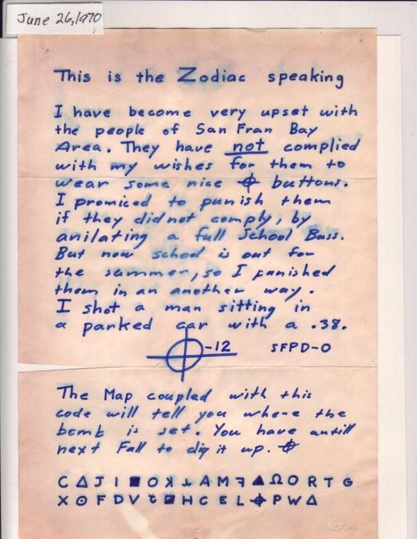 Bức thư cảnh sát nhận được sau đó.