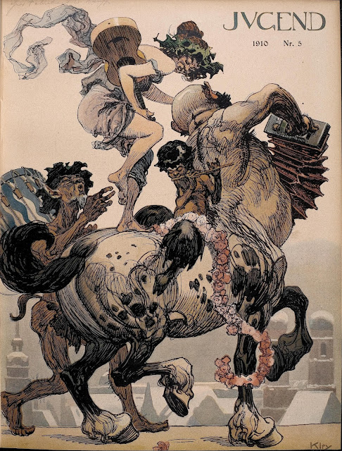 Cover illustration of Jugend Magazine by Heinrich Kley (January 29, 1910)