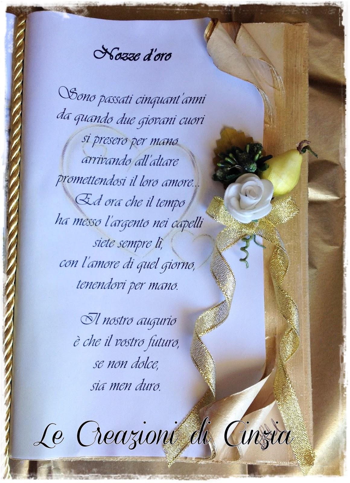 Frasi anniversario nozze d oro for Regali per un 25esimo di matrimonio
