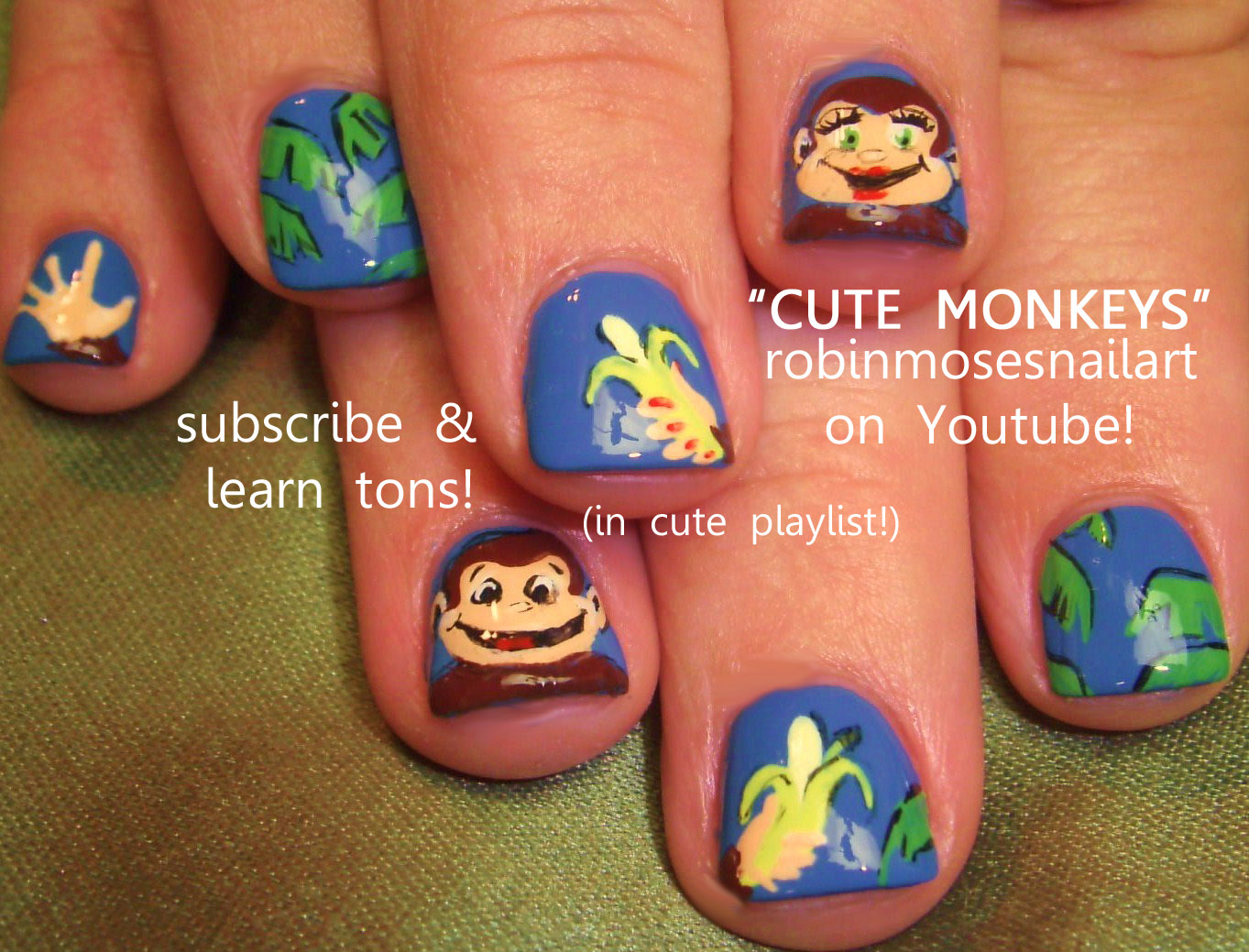 watercolor nails, watercolor nail technique, monkey nails ...