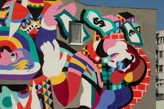 New Street Art By 3TTMAN In Lodz, Poland For Fundacja Urban Forms Festival 2013. 3
