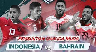 Susunan Pemain Timnas Indonesia vs Bahrain - PSSI Anniversary Cup 2018