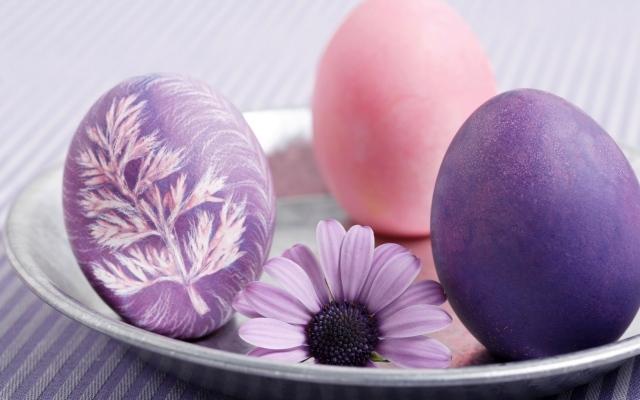 Easter Eggs Creative Ideas Parsley Purple Pin