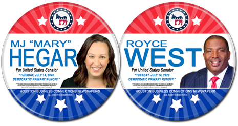 MJ Hegar and Royce West are the Democratic Runoff Candidates for United States Senator