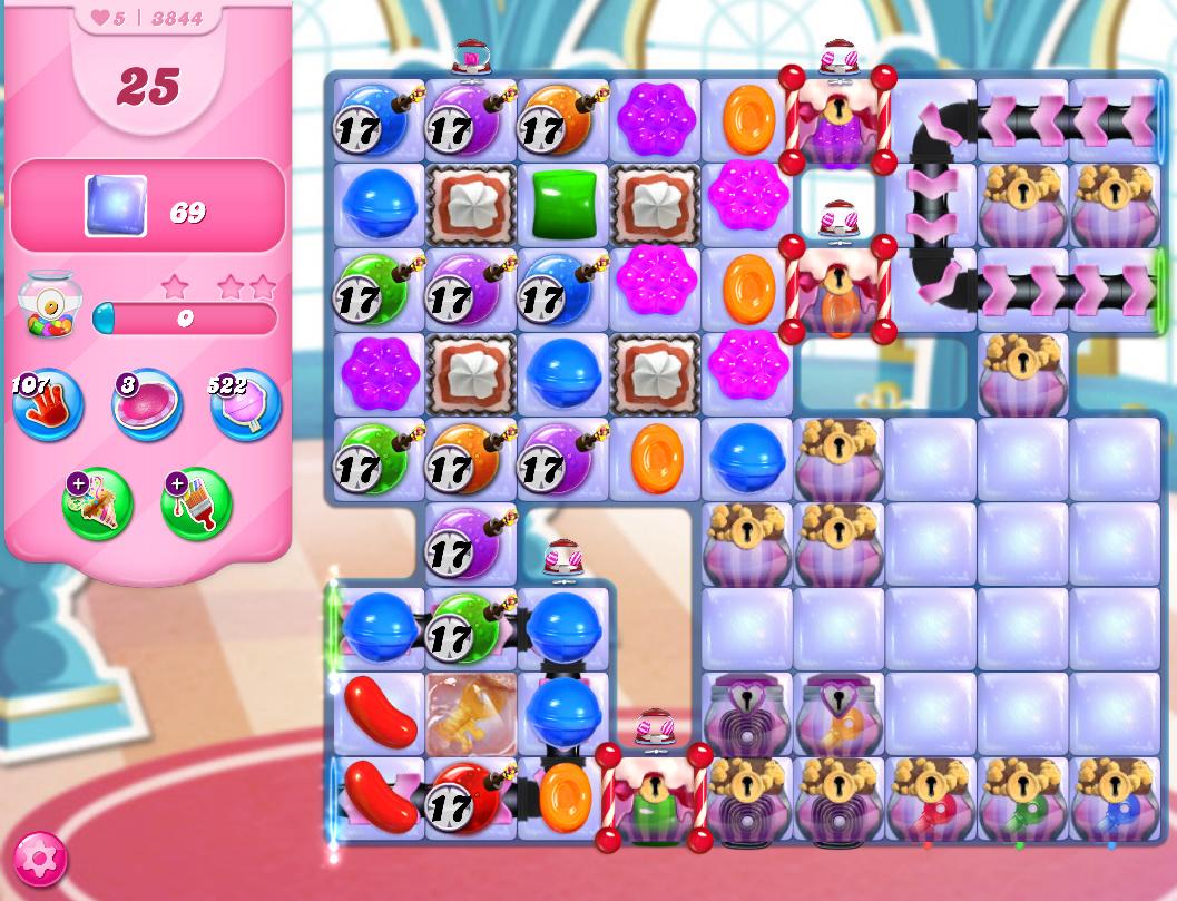 Candy Crush Saga level 3844