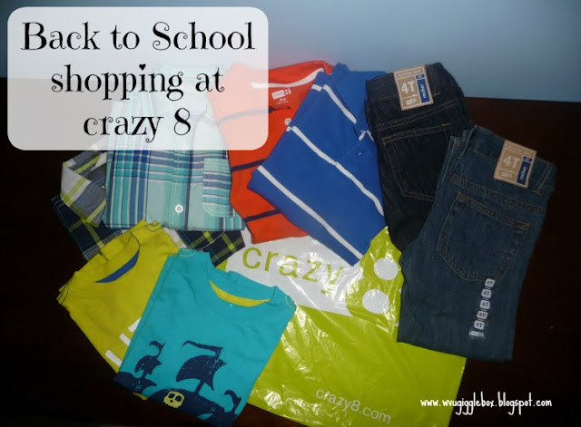 back to school shopping, crazy 8,
