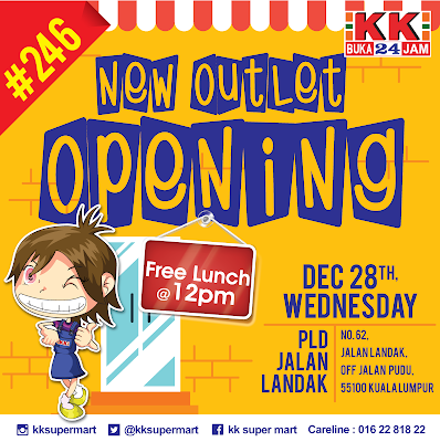KK Super Mart New Outlet Opening Free Lunch