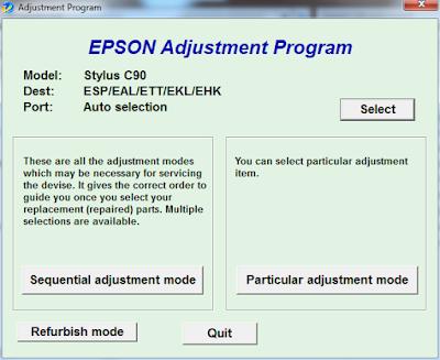 Resetter Printer Epson C90
