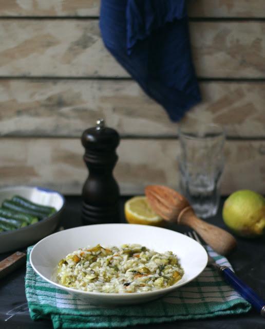 risotto con i fiori di zucchina