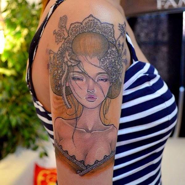 tatuajes para mujeres geishas