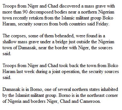 Boko Haram menace: www.checklistmag.com