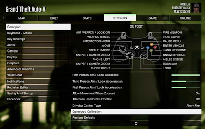 gamepad calibration gta v di pc