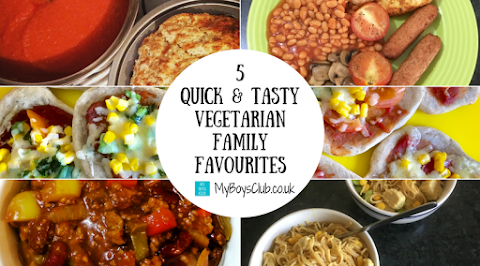 5 Quick & Tasty Vegetarian Family Favourite Meals