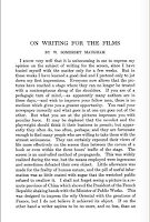 On Writing for the Films, 1921 North American Review - W. Somerset Maugham