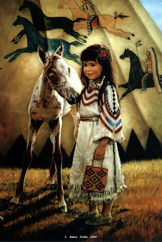 Karen Noles, 1947 ~ Native American paintings | Tutt'Art ...