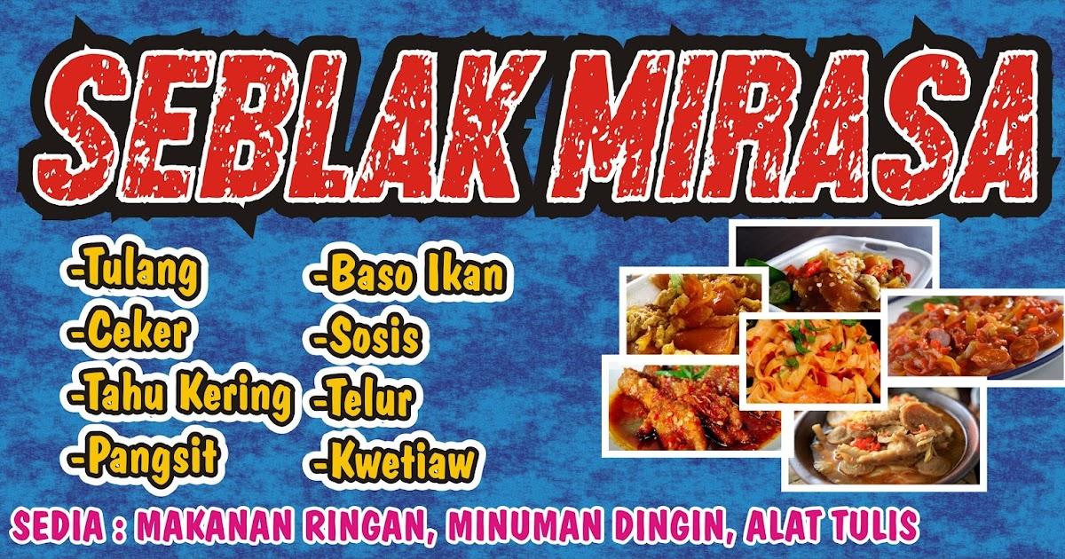 Newest For Contoh Desain Banner Makanan Seblak - Heart and ...