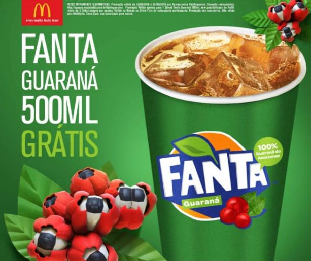 Fanta Guaraná grátis no Mc Donald's