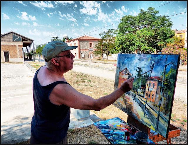 SANT GUIM DE FREIXENET-PINTURA-PAISATGES-ESTACIÓ-FERROCARRIL-FOTOS-QUADRES-ARTISTA PINTOR-ERNEST DESCALS-
