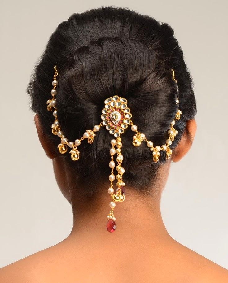 Wedding Hairstyle Juda: Fashionista: Angel's Place Of Fashion !!: Indian Bridal