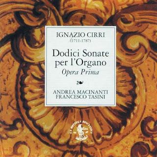 Cirri : Dodici Sonate per Organo, Op. 1