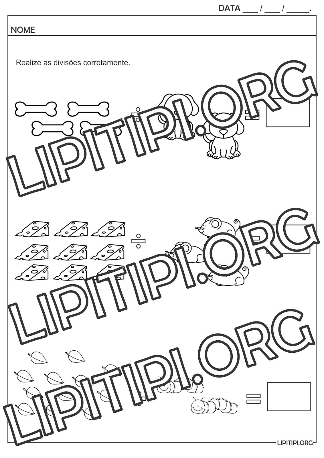 Lipitipi Atividades E Projetos Fundamental I Atividade Divisão
