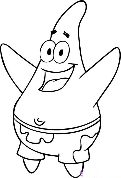 patric star coloring pages - photo#11