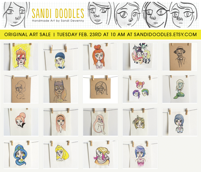 CreativelyCurated.com #sandidoodles sandidoodles.etsy.com #art #illustration #artsale