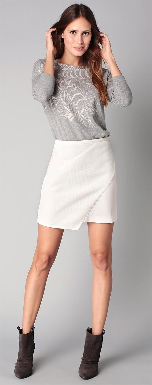 Jupe courte blanche Ikks women