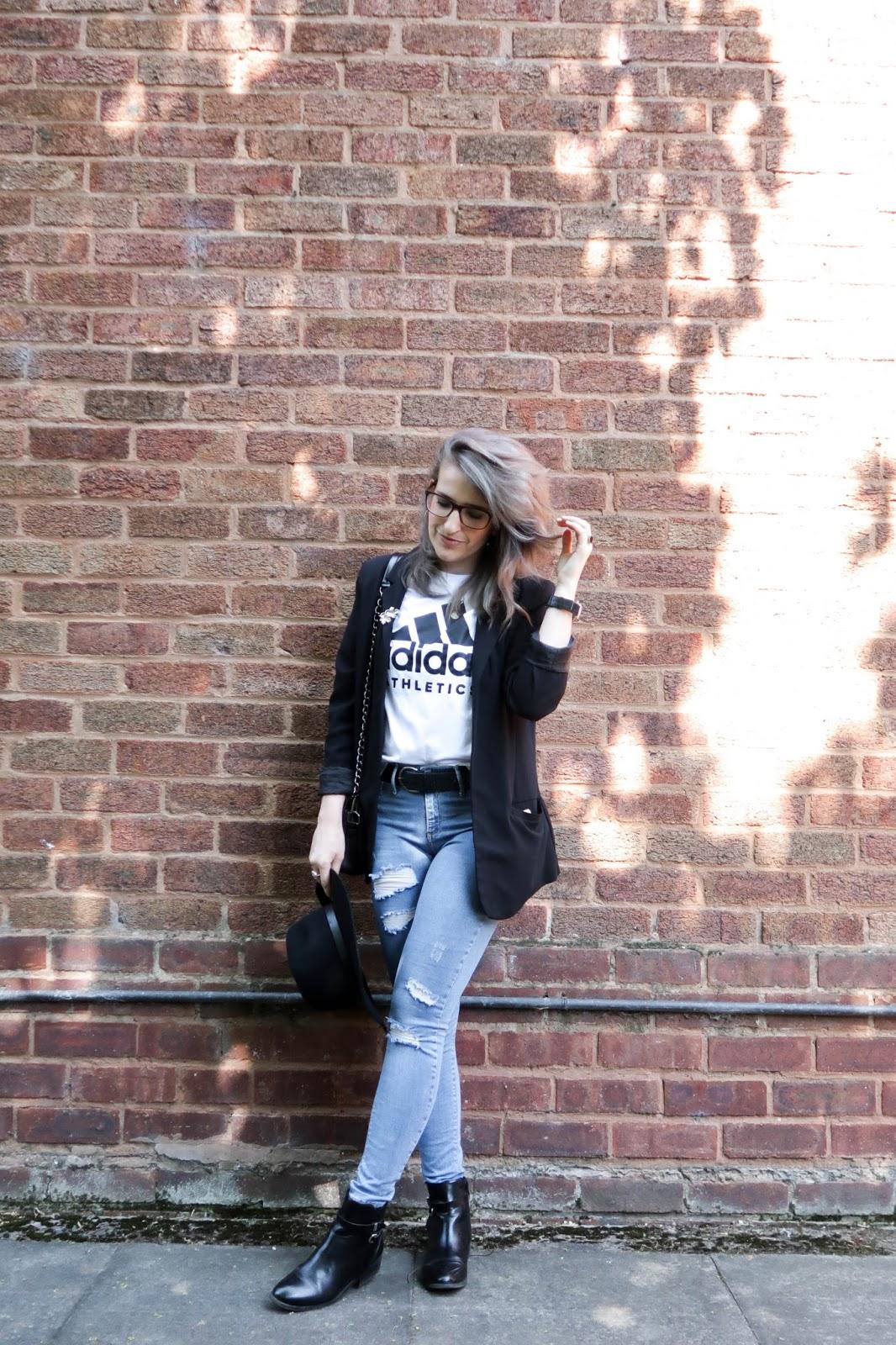 Adidas & a blazer