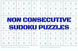 Non Consecutive Sudoku Variation Puzzles