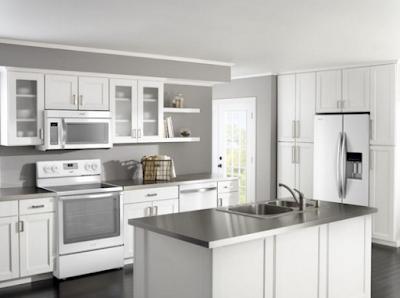 lemari dapur putih untuk dapur minimalis