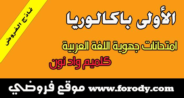 الأولى باكالوريا :الامتحان الجهوي جميع الشعب العلمية في اللغة العربية الدورة العادية 2016 جهة كلميم واد نون