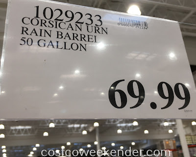 Deal for the Good Ideas Impressions Corsican 50 Urn Rain Barrel at Costco