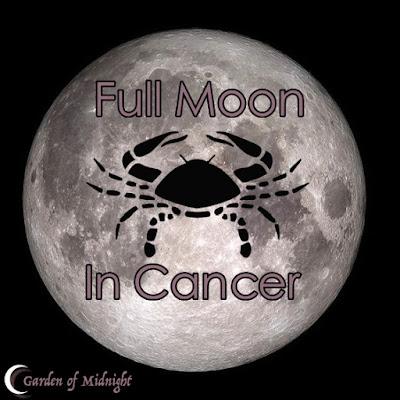 luna piena cancro fasi lunari