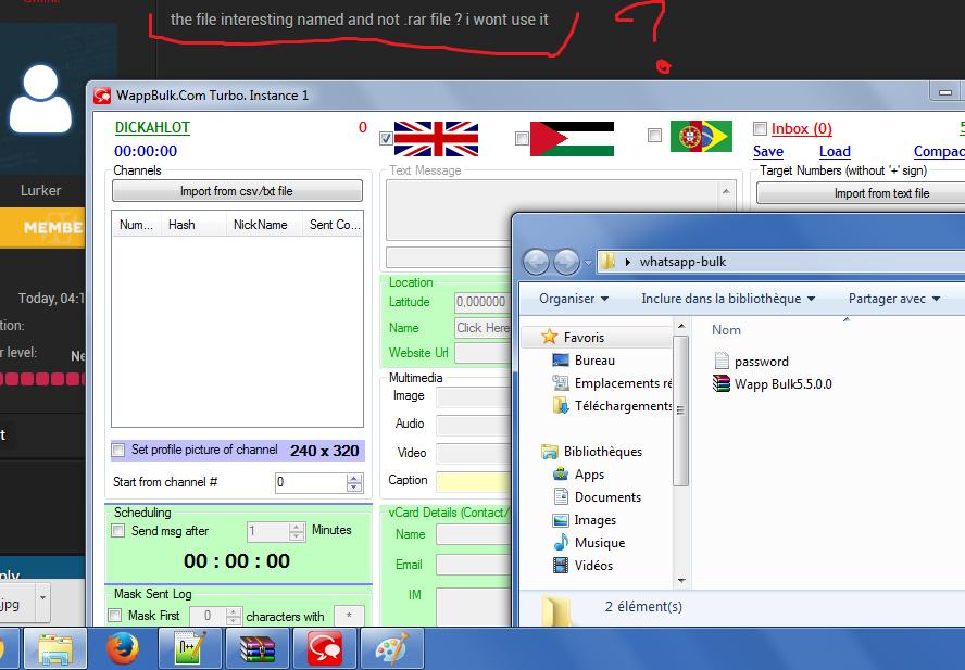 whatsapp bulk sender full version - Malicious Software