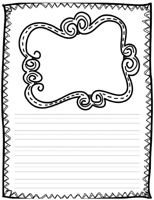 Folha Caligrafia com Desenho