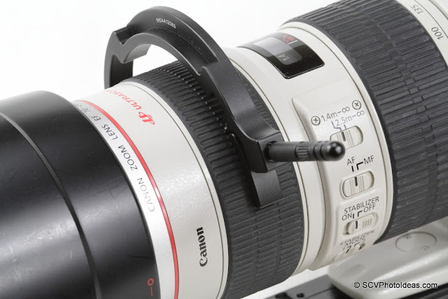 Sunwayfoto DRH-77 Focusing Handle on Canon EF 70-200 L IS USM