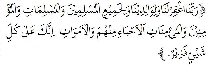 Doa Sesudah Sholat wajib 5 waktu berjama'ah