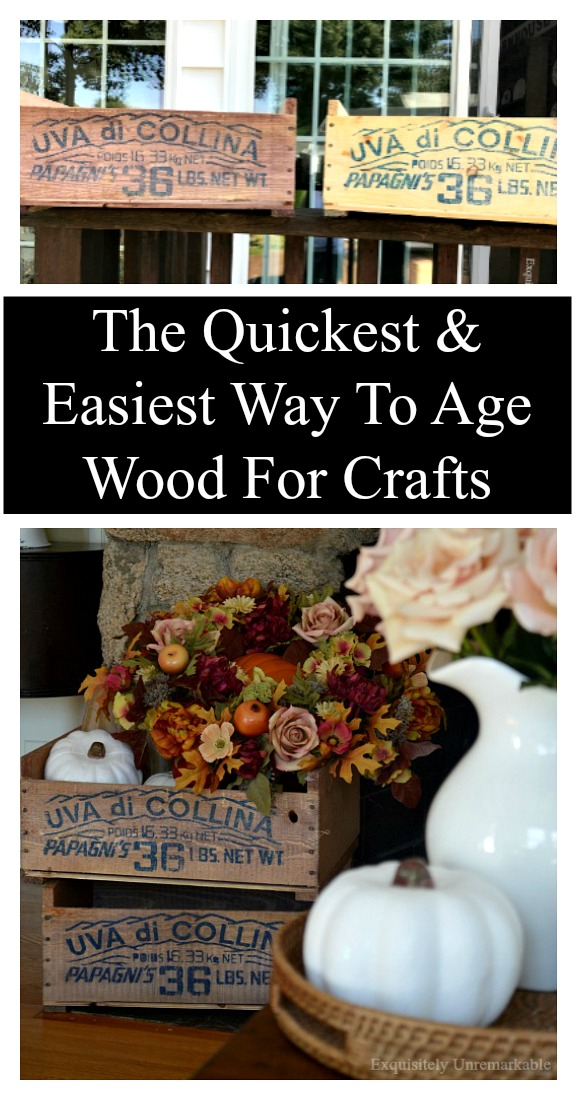 The Quickest and Easiest Way To Age Wood For Crafts