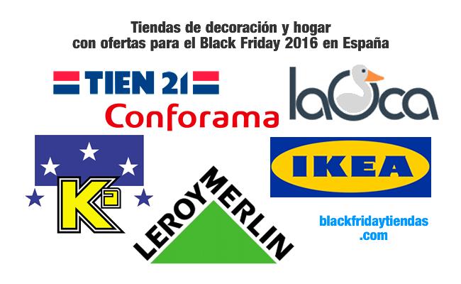 Tiendas de decoración y hogar con ofertas para el Black Friday 2016 en España